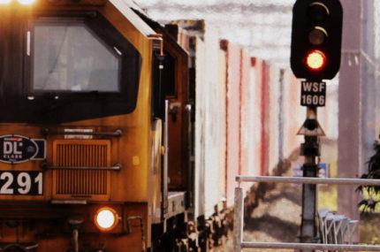 train-on-tracks